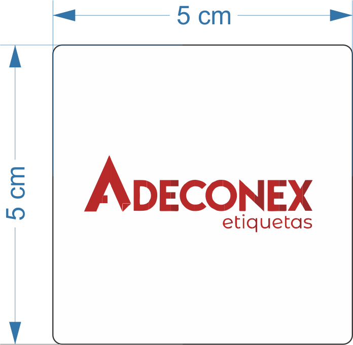 Etiquetas Adesivas Personalizadas 2 Cores 5x5cm 10 Rolos 2 colunas