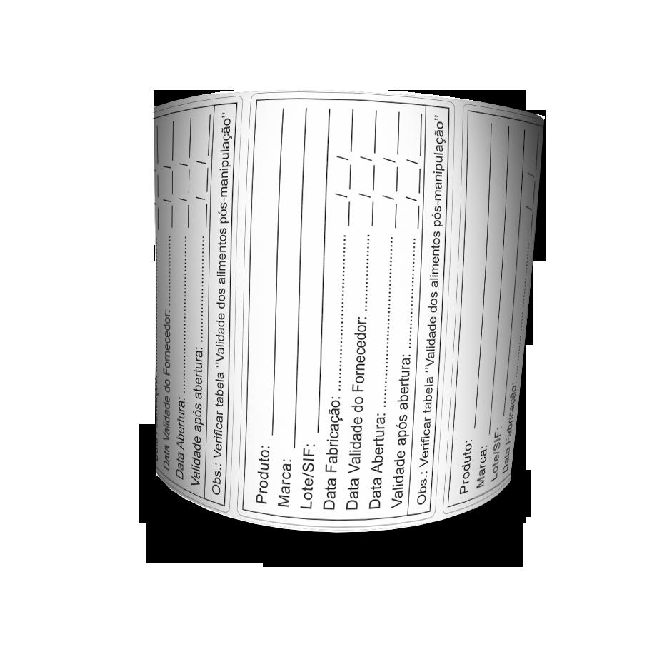 Etiqueta Adesiva - Prazo De Validade - 100x50 Mm - 500 Etiquetas