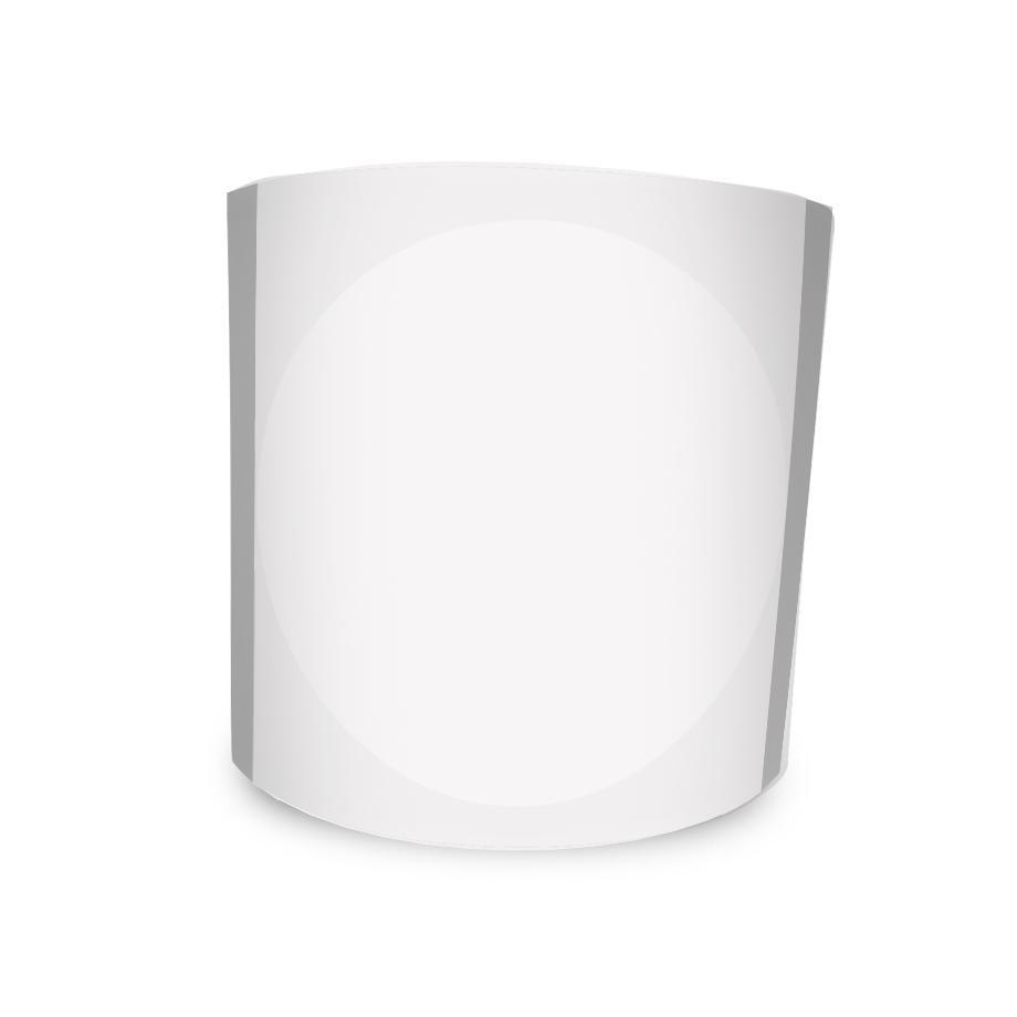 Etiqueta Redonda Adesiva Transparente 4Cm 500un Com Tarja