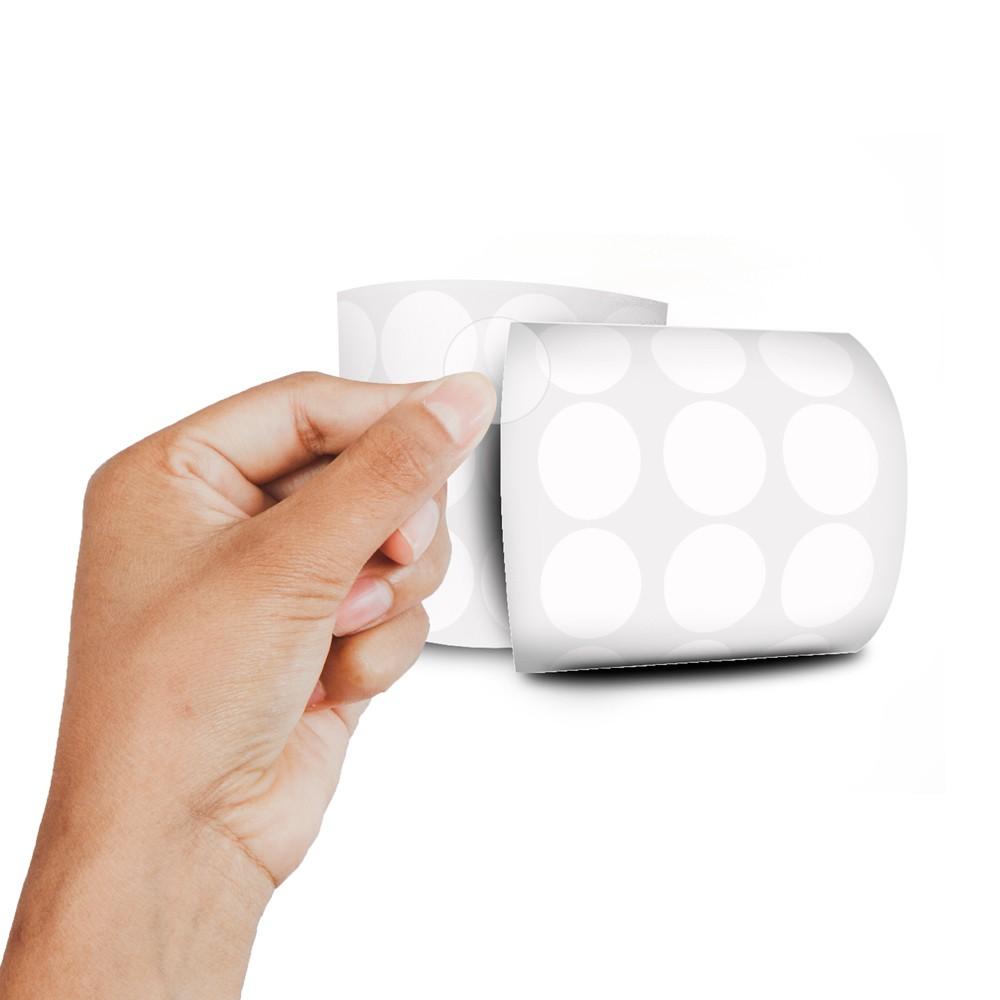 Etiqueta Redonda - Etiquetas Adesivas Bolinha Transparente 2 cm