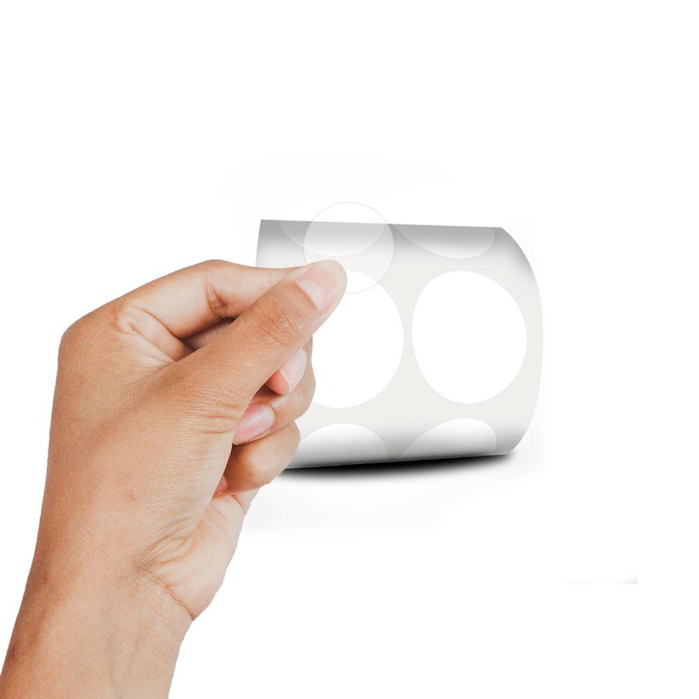 Etiqueta Redonda - Etiquetas Adesivas Bolinha Transparente 3 cm 10 Mil