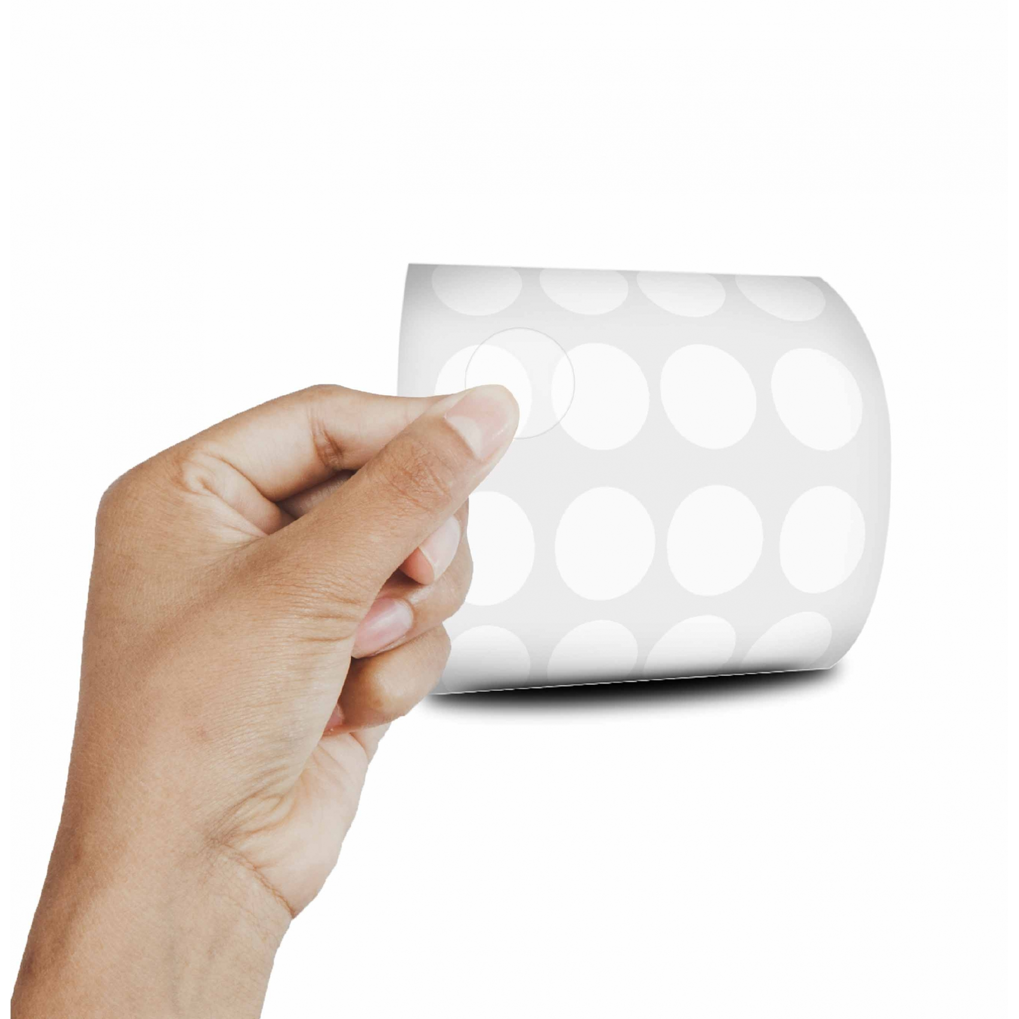 Etiqueta Redonda - Etiquetas Adesivas Bolinha Transparente 1,2 cm