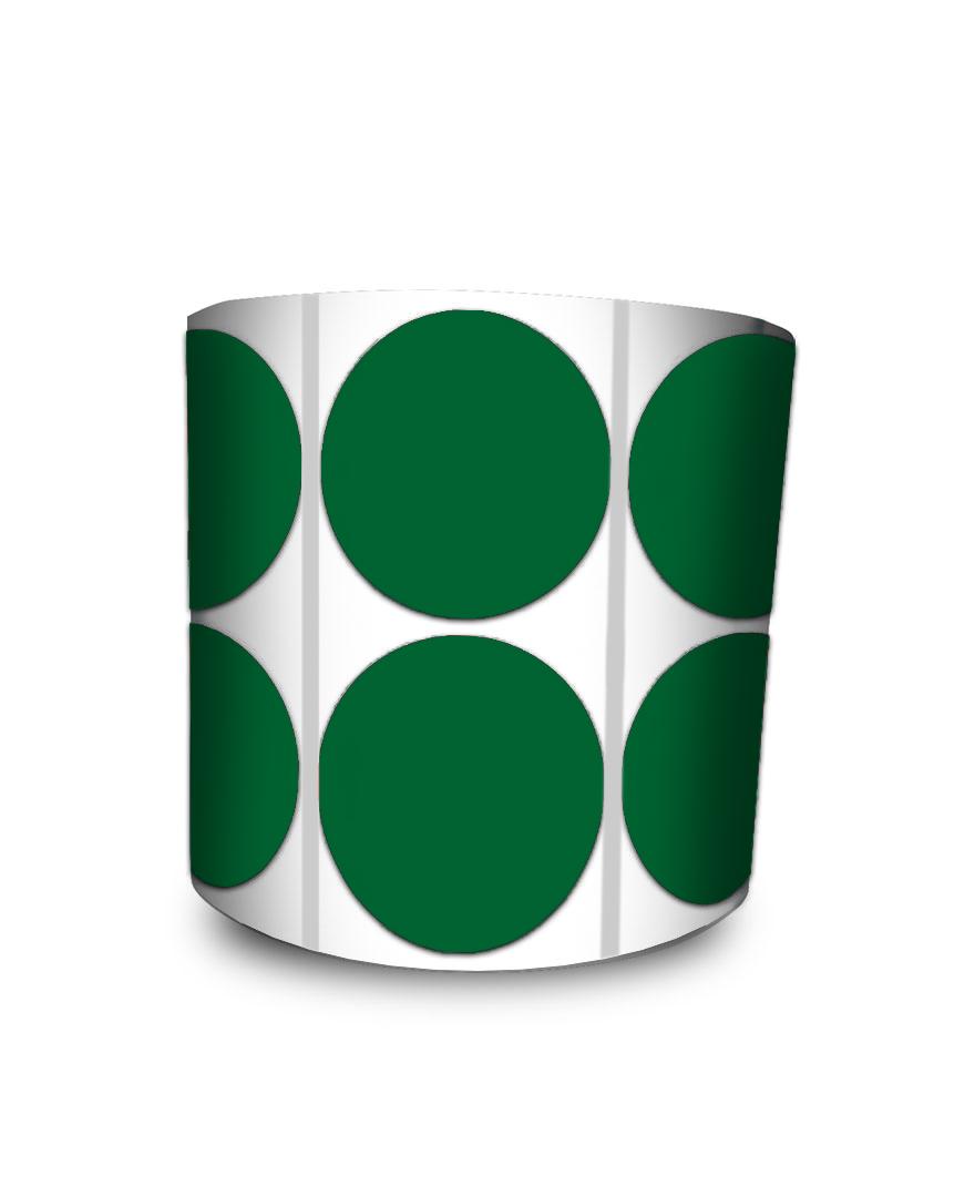 Etiqueta Redonda - Bolinha Verde 3 cm com Tarja