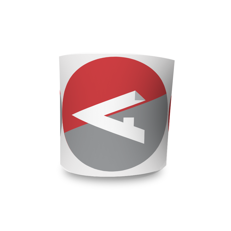 Etiqueta Redonda - Etiquetas Adesivas Personalizadas 2 Cores 10cm - 10 Rolos