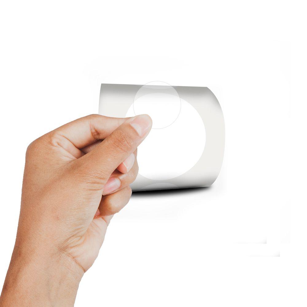 Etiqueta Redonda Transparente  4cm 20 Rolos 500 Etiquetas