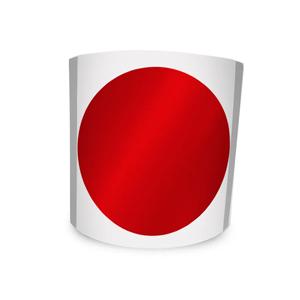 Etiqueta Redonda Vermelha 6Cm 1 Coluna Com Tarja - 500 un