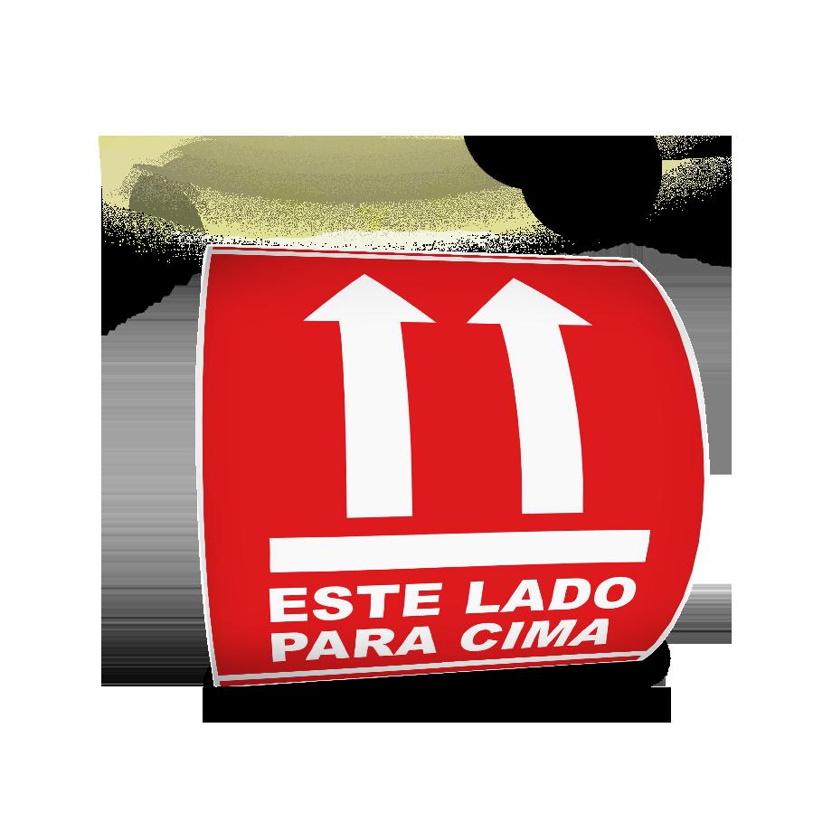 Etiquetas Adesivas Selo Este Lado Para Cima 100x100 Frágil - 500