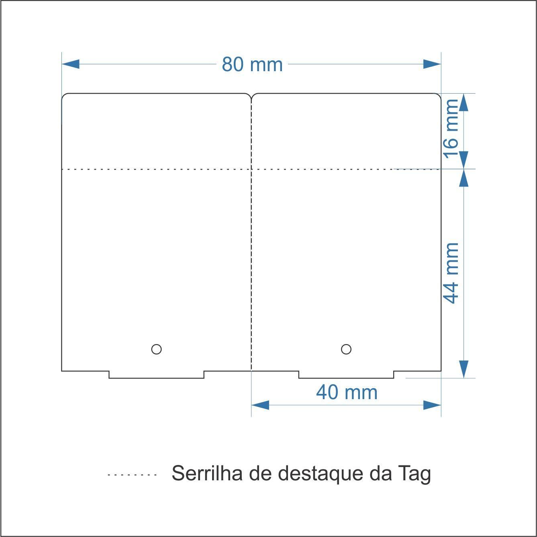 Etiqueta Tag 40x60 Mm Couchê 32 Metros ADESIVA