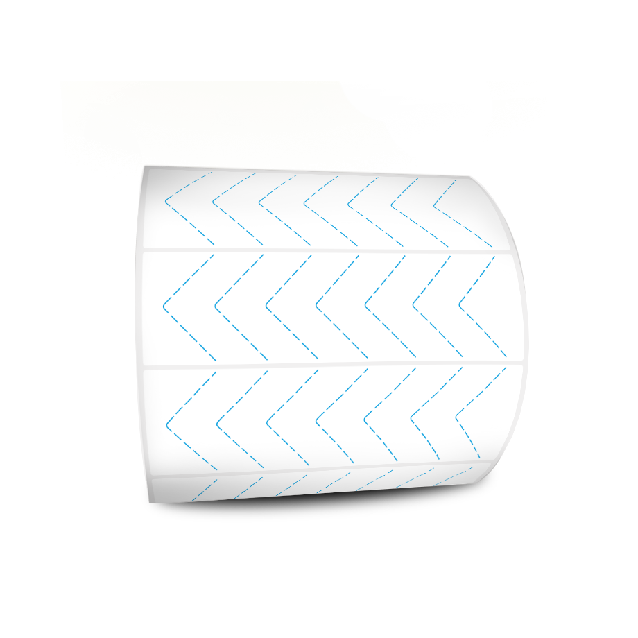 Etiquetas Adesivas Branca 100x30 Couche 32 Metros Com Picote