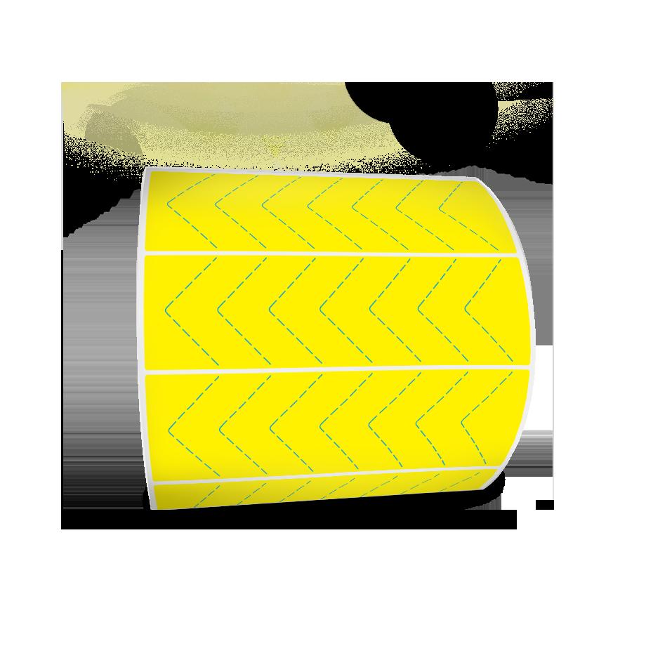 Etiquetas Adesivas Amarela 100x30 Couche 32 Metros Com Picote