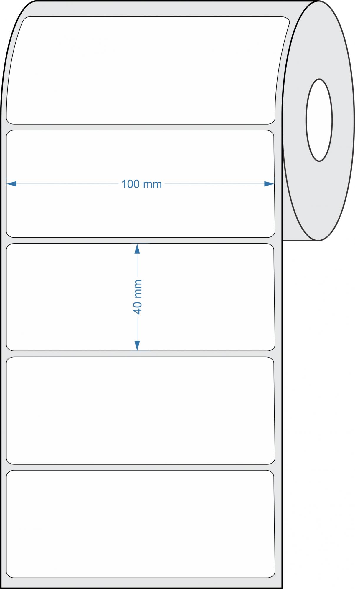 Etiquetas Adesivas 100x40 mm BOPP FOSCO 32 Metros