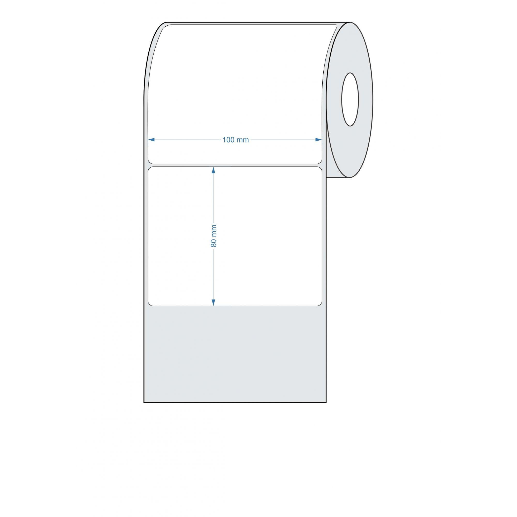 Etiquetas Adesivas 100x80 mm BOPP FOSCO 32 Metros