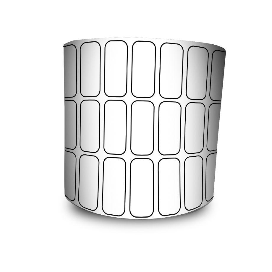 Etiquetas Adesivas 25x10 mm BOPP FOSCO 3 Colunas - 5 Rolos