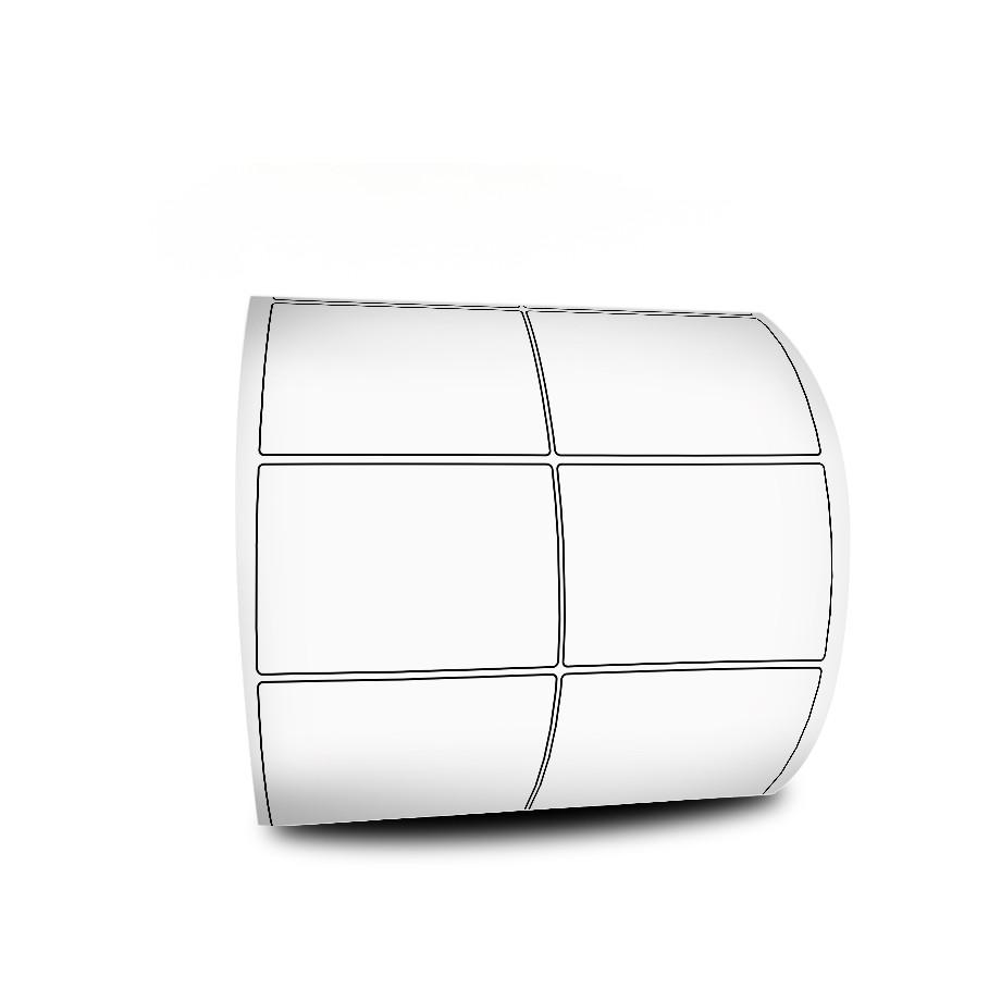Etiquetas Adesivas 50x30 mm  BOPP FOSCO 32 metros 02 Colunas