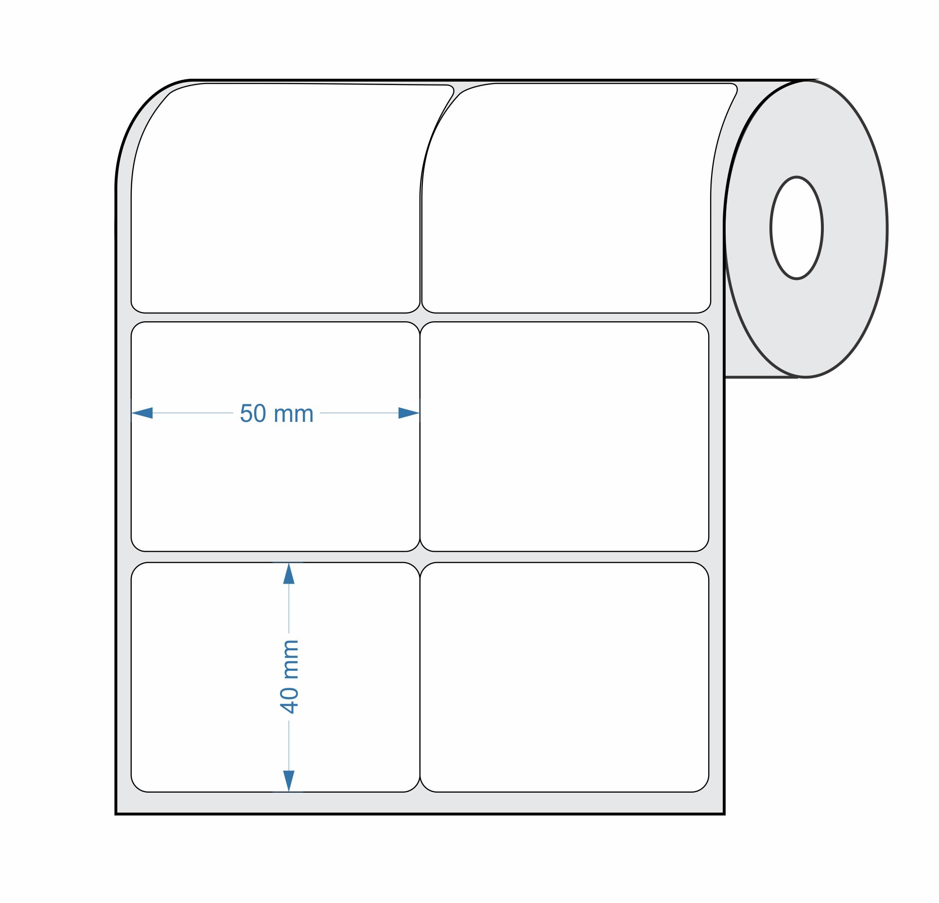 Etiquetas Adesivas 50x40 mm Couchê 32 Metros