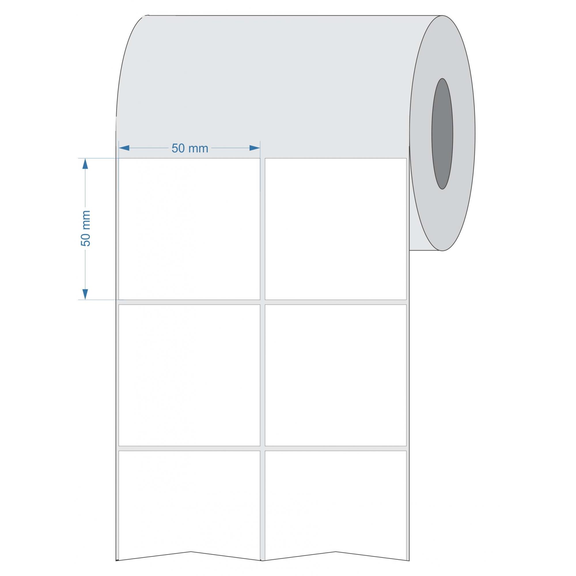 Etiquetas Adesivas 50x50 mm  Termica 64 metros 02 Colunas TUBO 3 POLEGADA