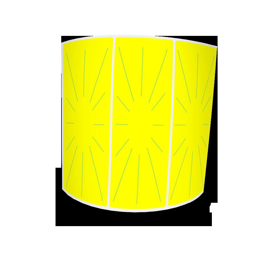 Etiquetas Adesivas Amarela 105x35 Couche 32 Metros Com Picote