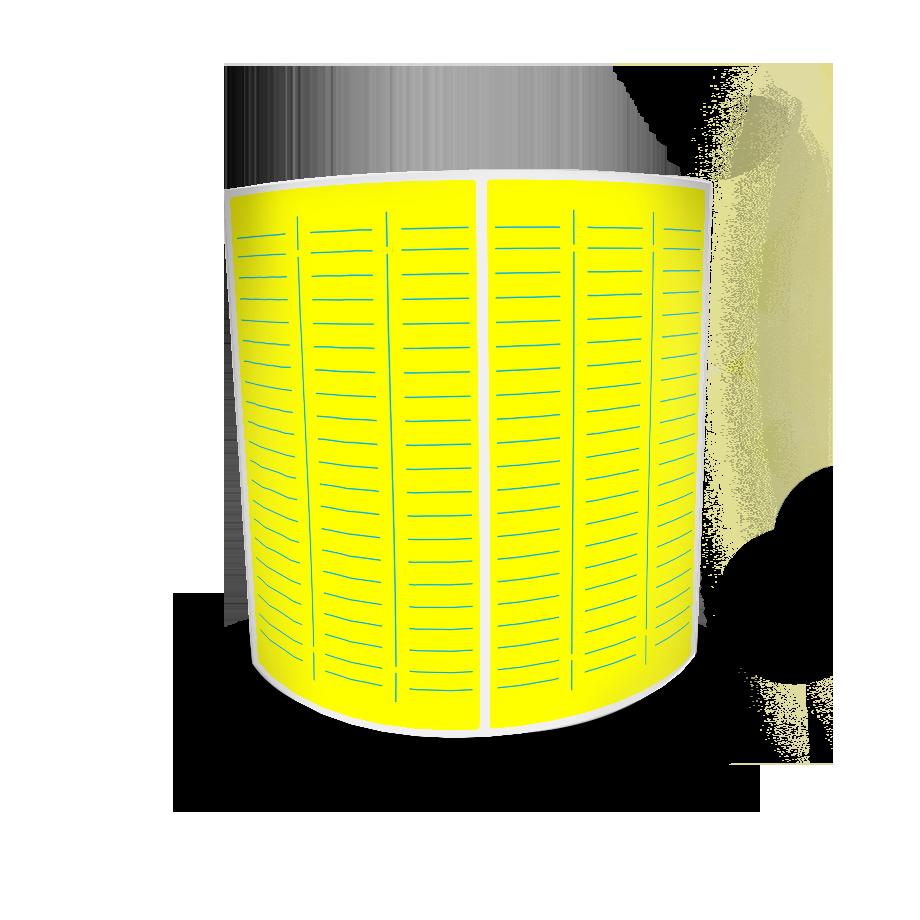 Etiquetas Adesivas Amarela 80x40 Couche 32 Metros Com Picote