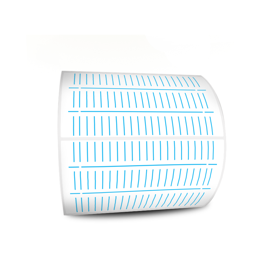 Etiquetas Adesivas Branca 80x40 Couche 32 Metros Com Picote
