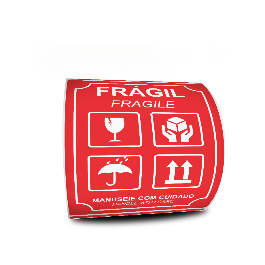 Etiquetas Adesivas Frágil Fragile 108x150 - 500 Etiquetas
