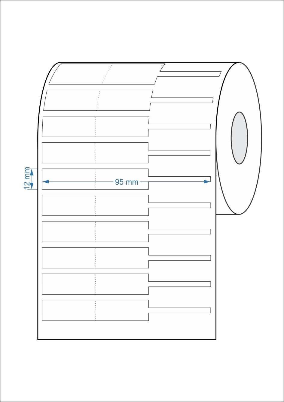 Etiquetas Adesivas para Joias e Otica Bopp 95mx12mm 2000un - 5 Rolos