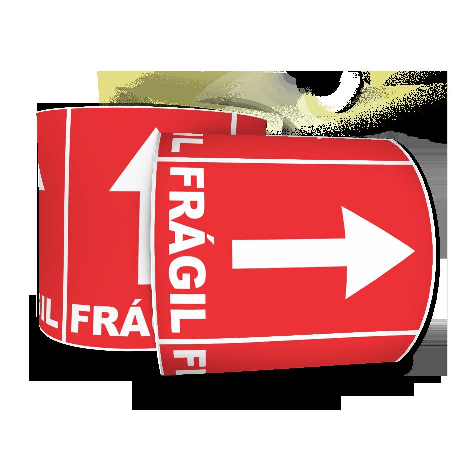 Etiquetas Adesivas Selo Frágil Seta 60x40 Mm Milheiro
