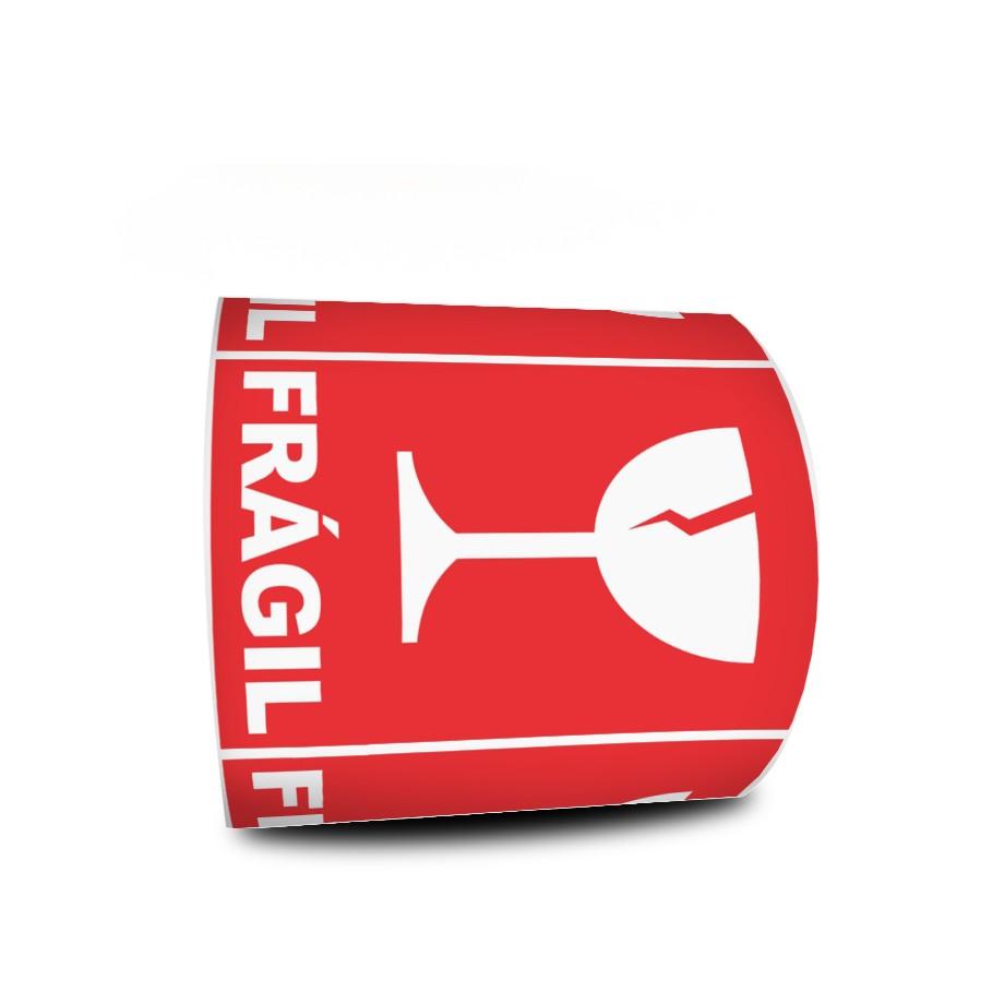 Etiquetas Adesivas Selo Frágil Taça 60x40 Mm Milheiro