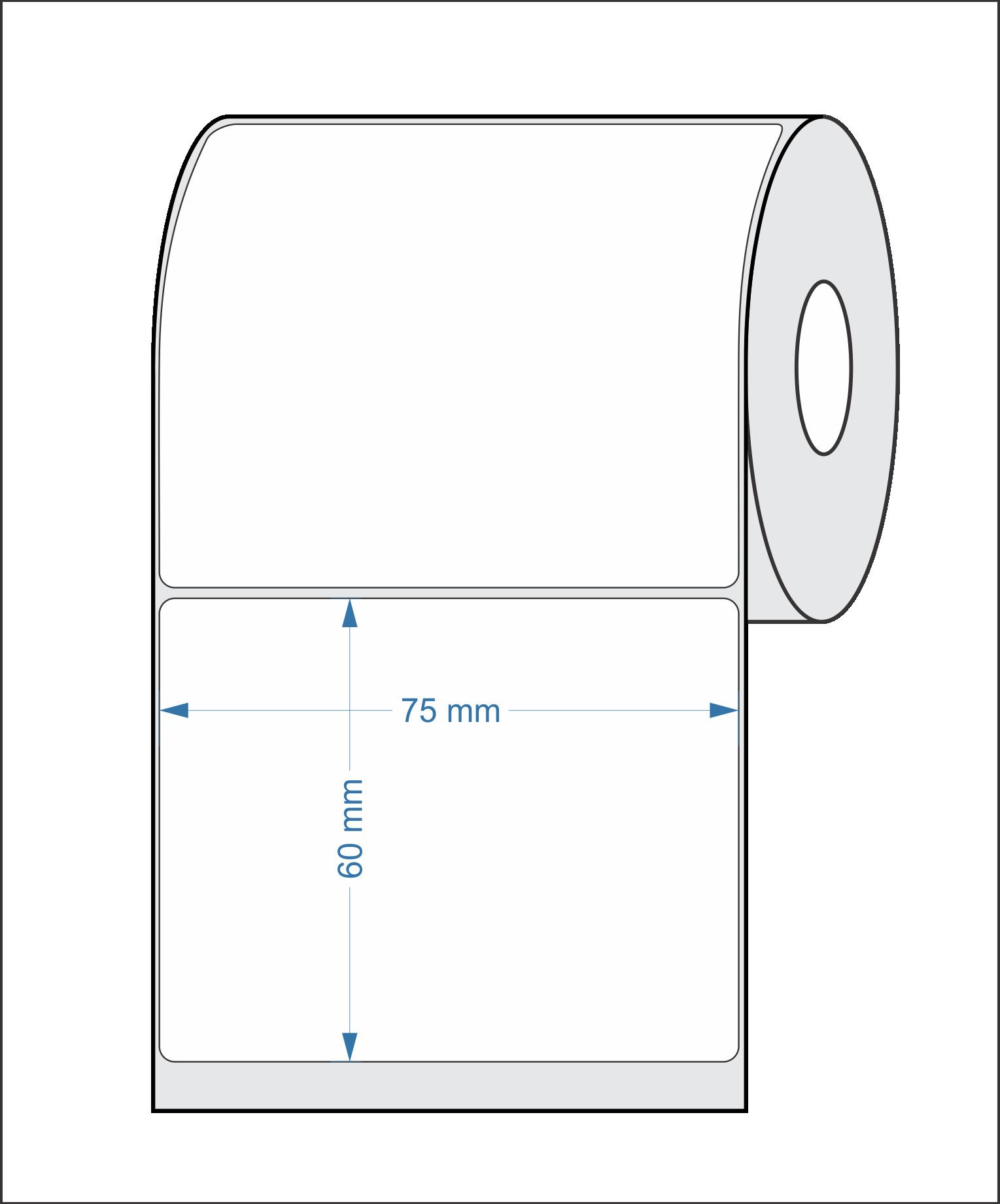 Etiquetas Adesivas Térmica 75x60 Mm 32 Metros