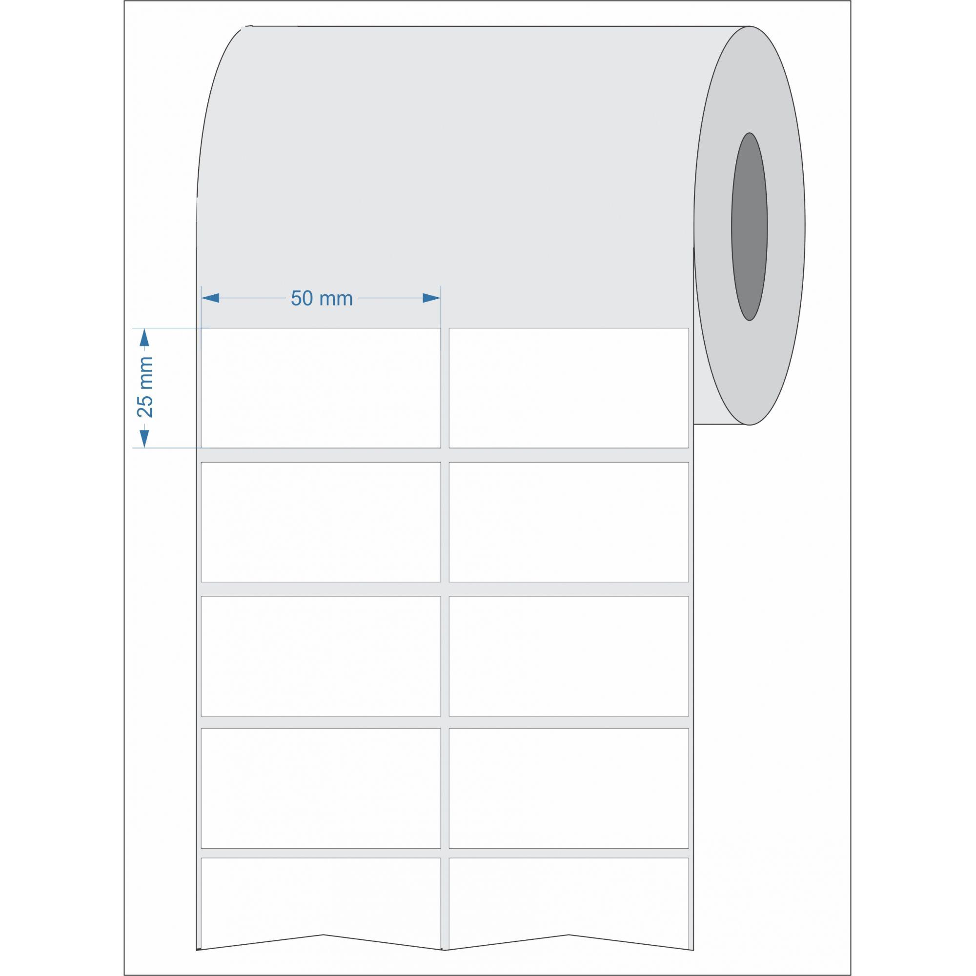Etiquetas Adesivas para Laboratório 50x25 Mm Couchê 2 Colunas 32 Mts