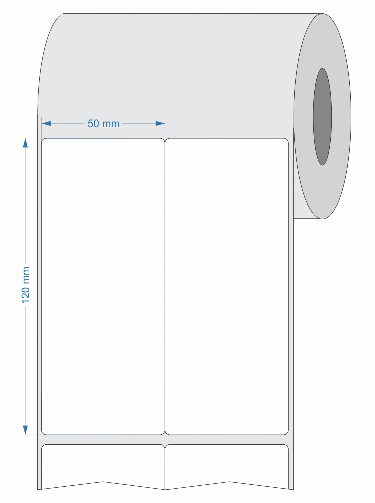 Etiquetas para Rastreabilidade Adesivas 50x120 mm BOPP - 10 Rolos