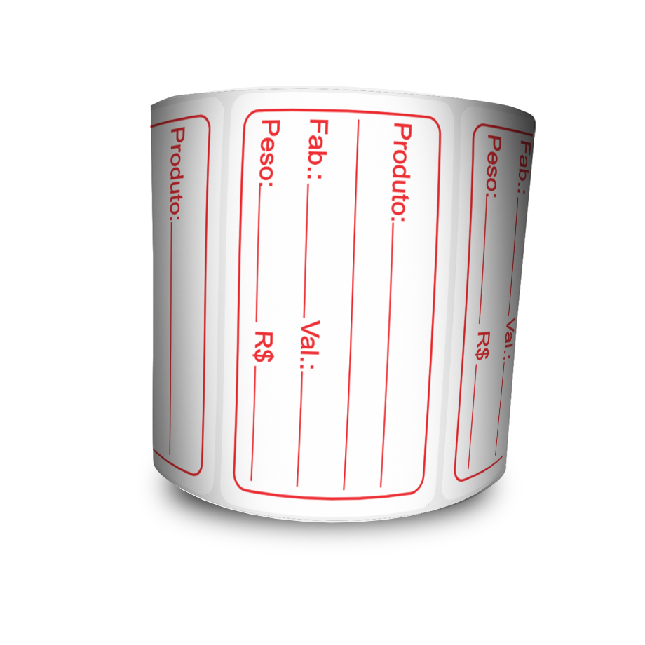 Etiquetas Prazo de Validade BOPP - Letras Vermelhas - 20 Milheiros
