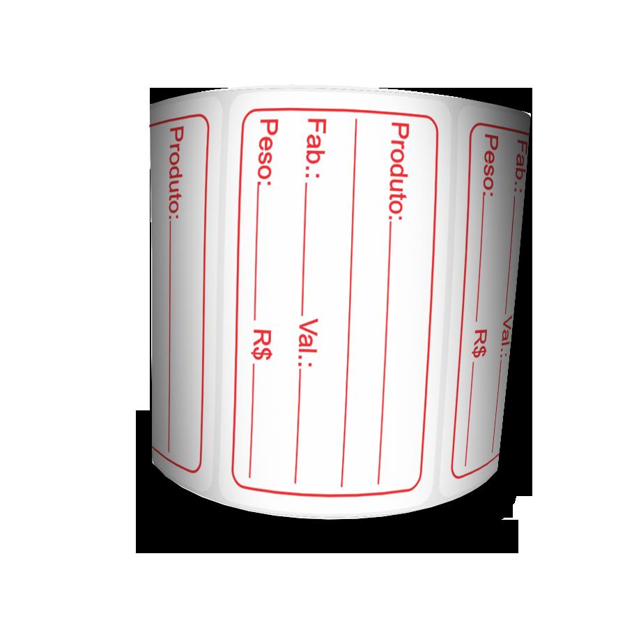 Etiquetas Prazo de Validade BOPP - Letras Vermelhas - 4 Milheiros