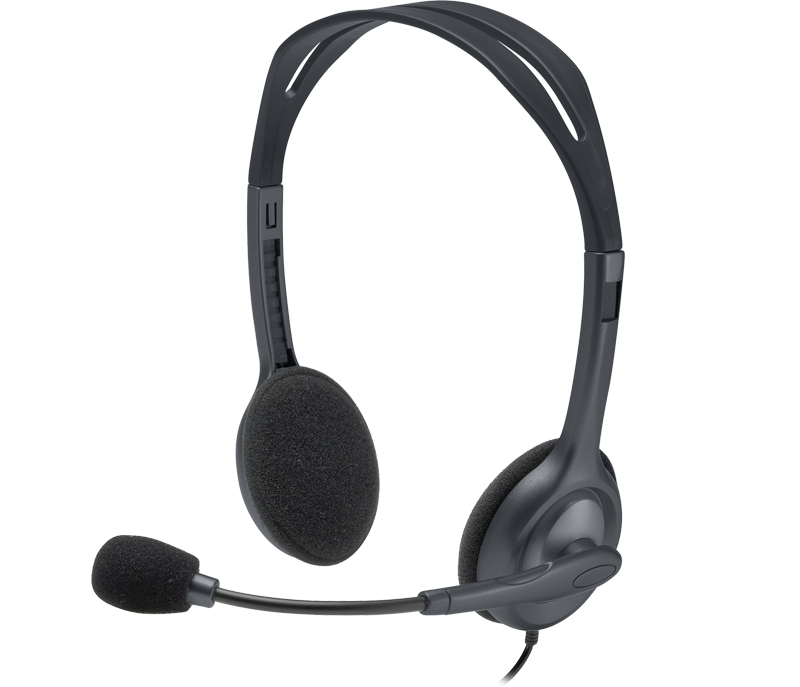 Fone Com Microfone Estereo Headset H111 Logitech