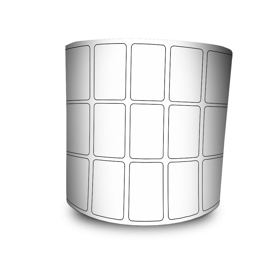 Etiquetas Adesivas Couche 33x22 32 mts Branca - 5 rolos + 3 Ribbons