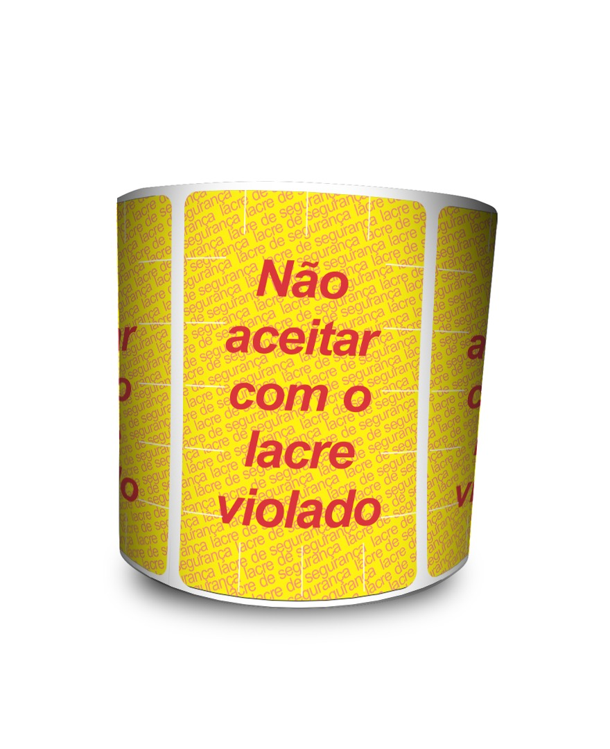 Lacre para Delivery - Lacre De Segurança Amarelo 60x40 mm 12 milheiros