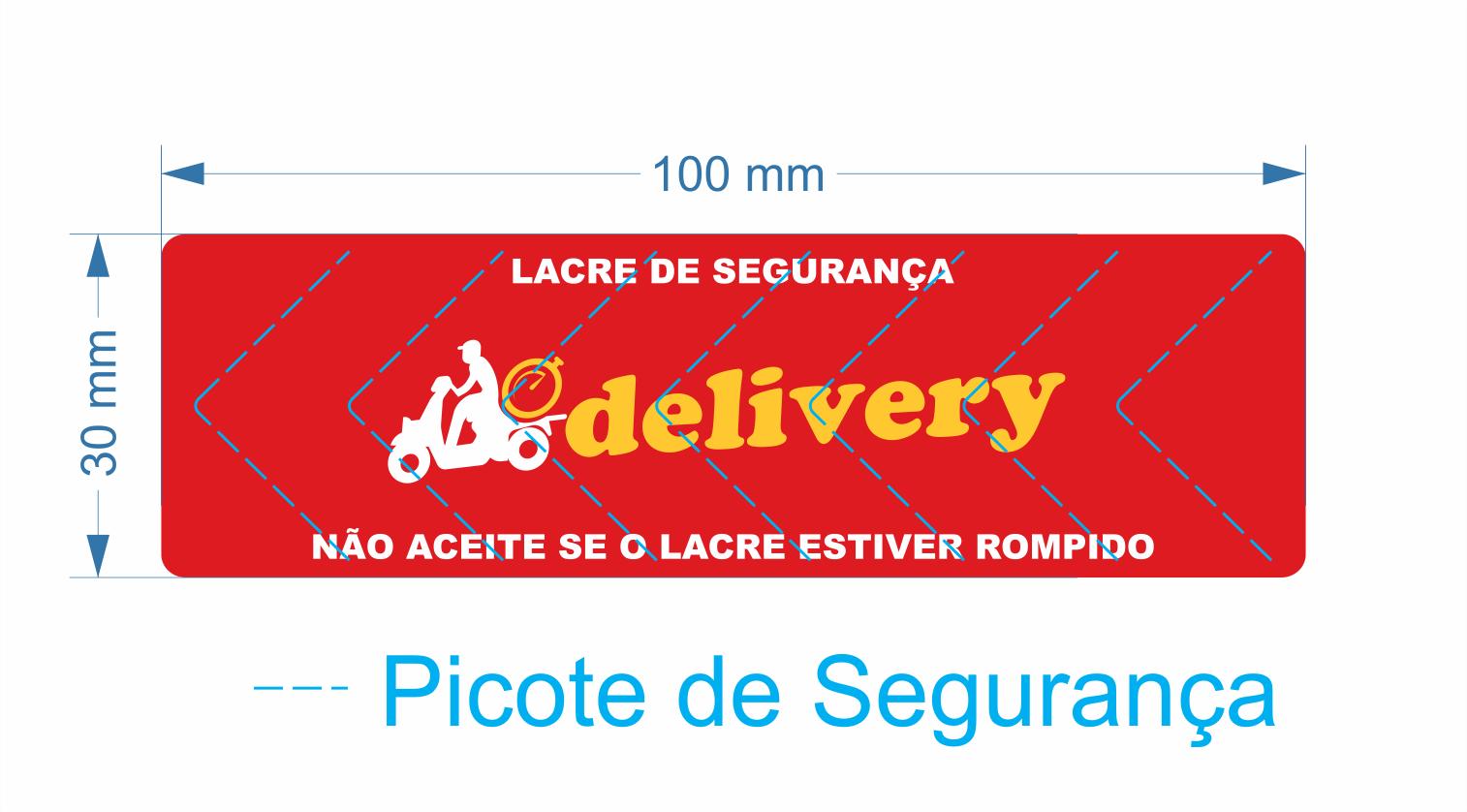 Lacre para Delivery 100x30 mm Milheiro