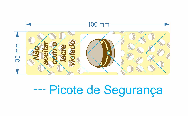 Lacre para Delivery de Lanche 100x30 mm - Milheiro