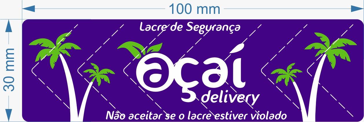 Lacre para Delivery Açai 100x30 mm Milheiro