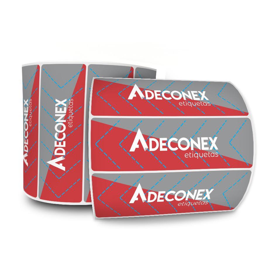 Lacre para Delivery Personalizado 2 Cores 100x30 mm 20 Milheiros