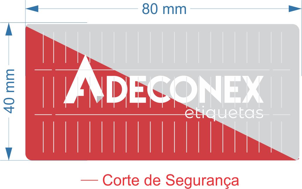 Lacre para Delivery Personalizado 2 Cores 80x40 mm 10 Rolos