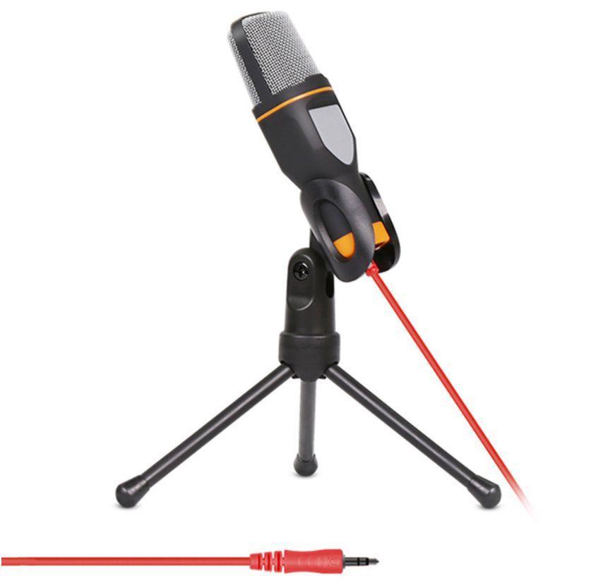 Microfone Condensador P2 com Suporte de Mesa - Mymax