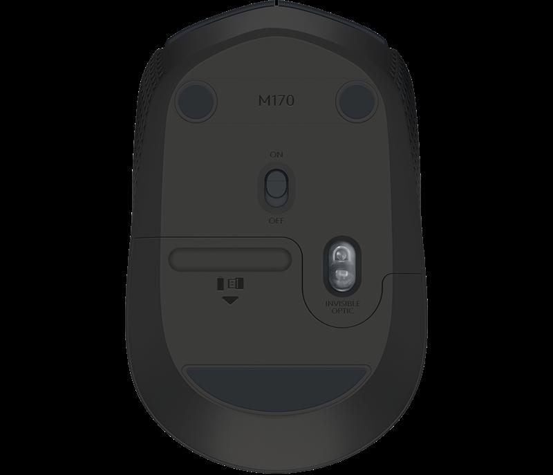 Mouse Logitech Sem Fio M170 Preto