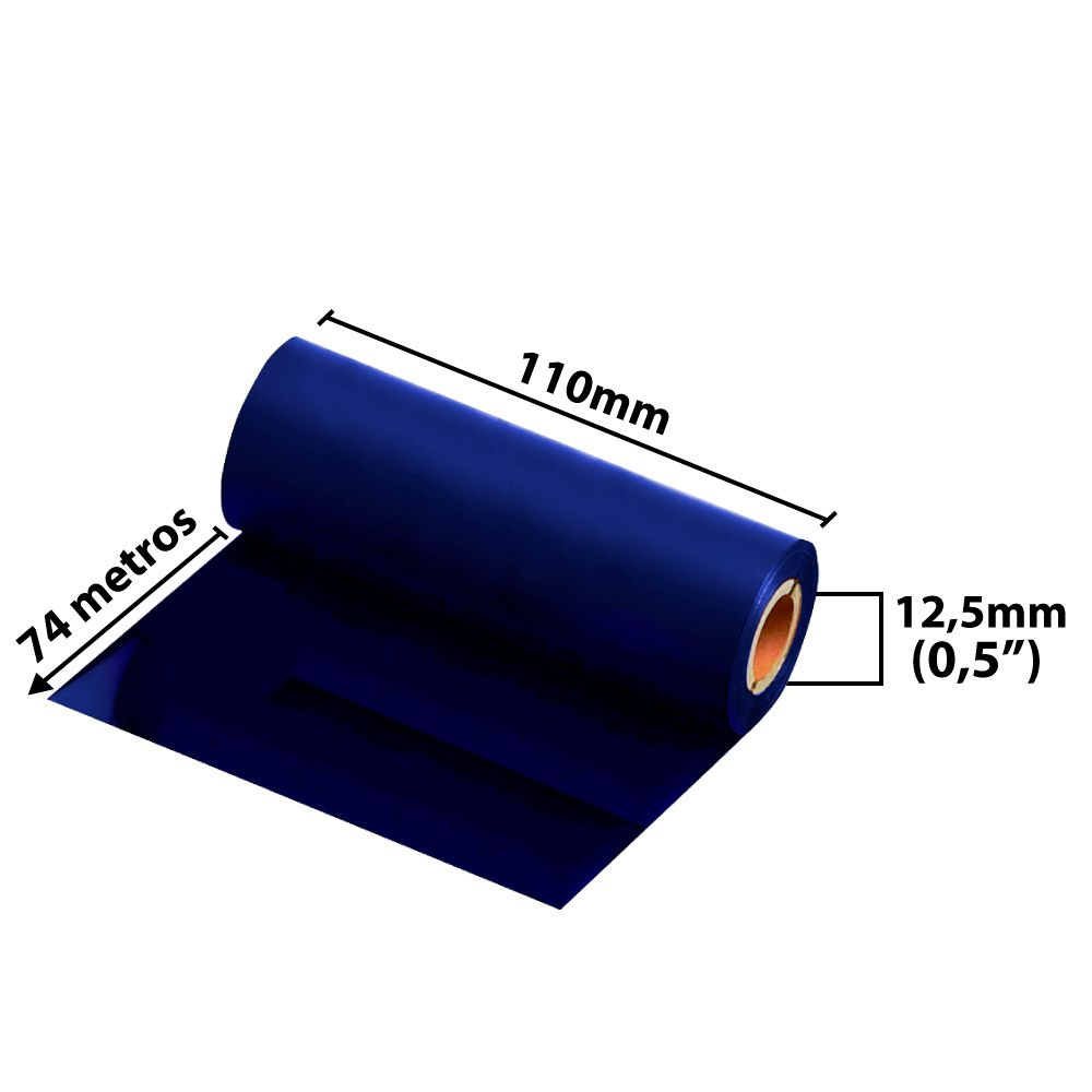 Ribbon 110x74 M  - Misto ( cera/resina) Azul