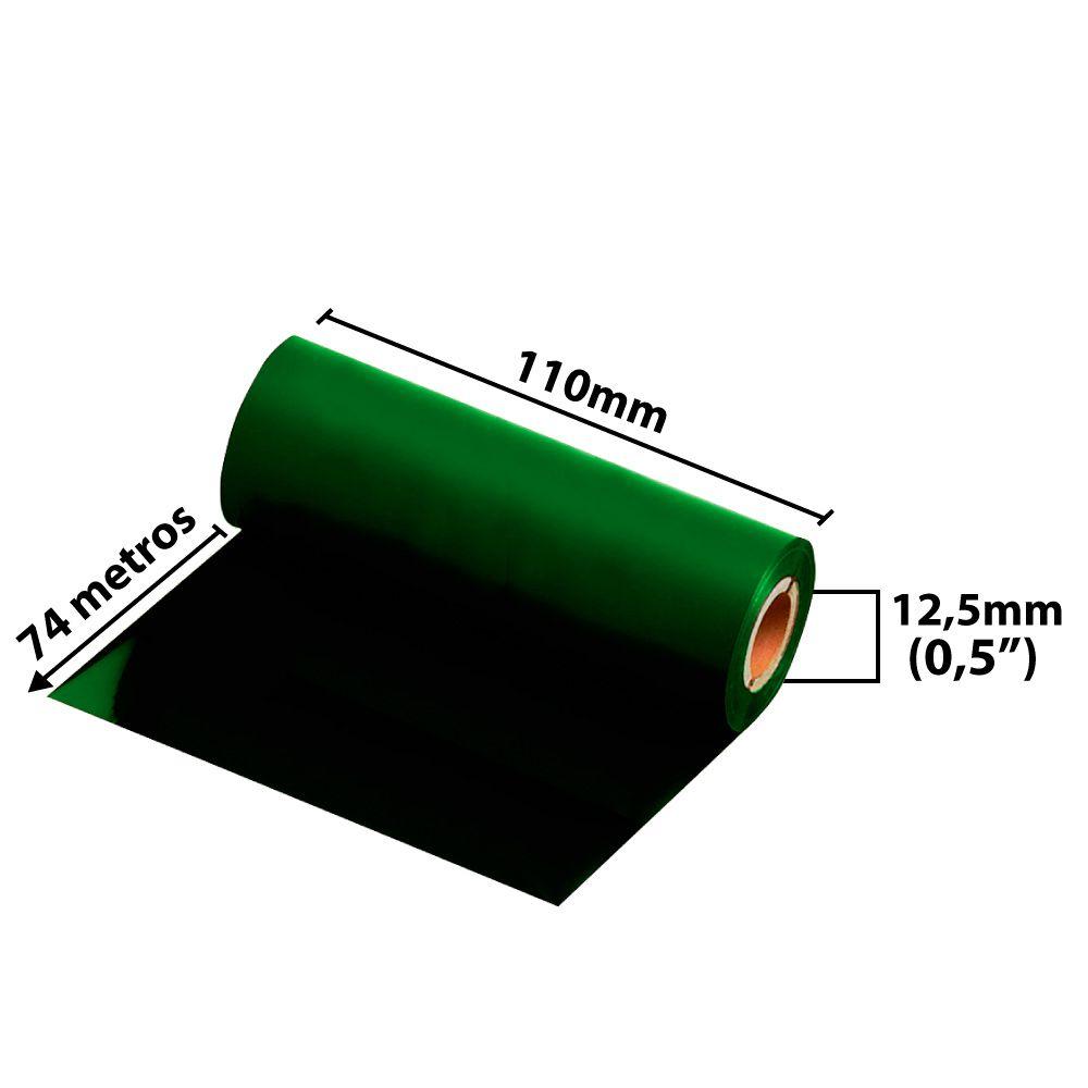 Ribbon 110x74 M  - Misto ( cera/resina) Verde