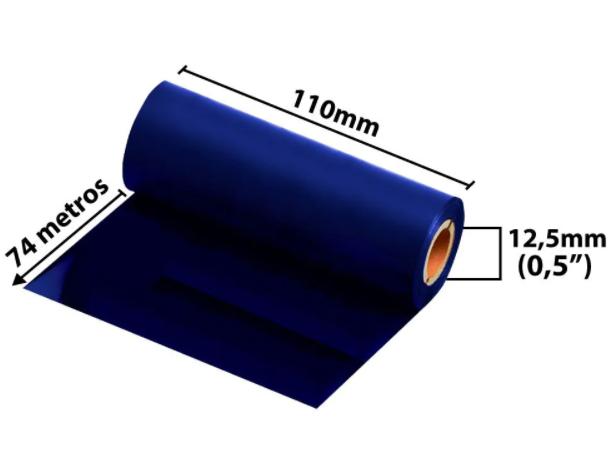 Ribbon Misto para fita de Cetim 110x74 Metros Azul