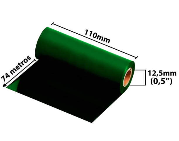 Ribbon Misto para fita de Cetim 110x74 Metros Verde