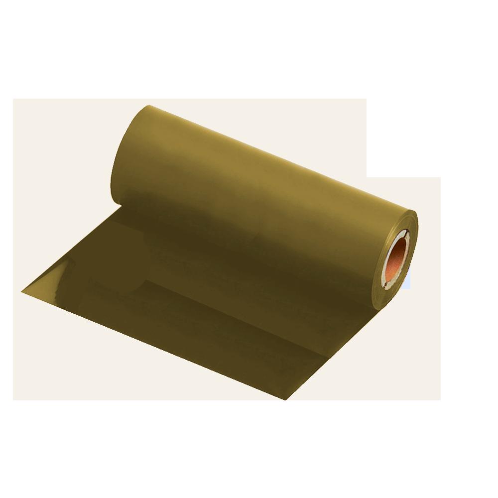Ribbon Resina Dourado Fosco 110x74m para BOPP