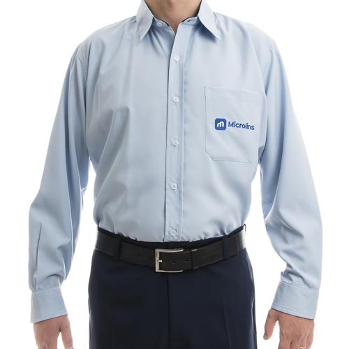 Camisa Social Masculina Manga Longa  - Uniformes Microlins 388e9079a9057