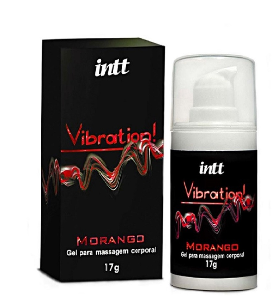 Vibrador Líquido Sabor Morango Vibration 17gr - INTT