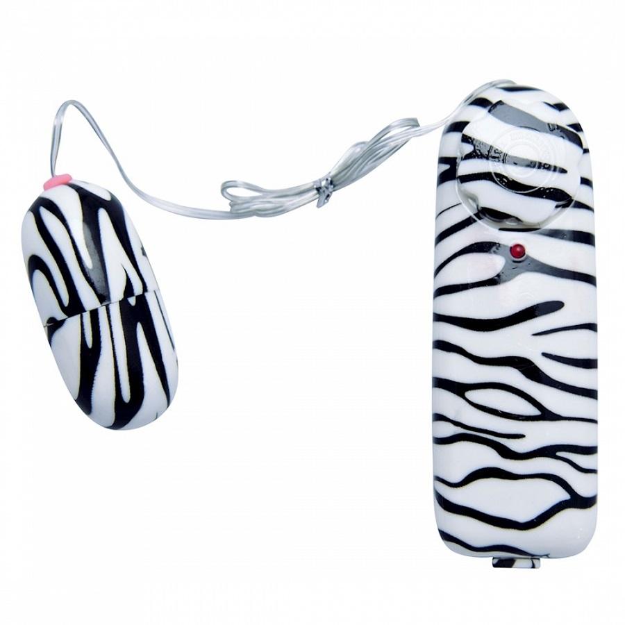Vibrador Bullet Zebra Controle Remoto com Fio